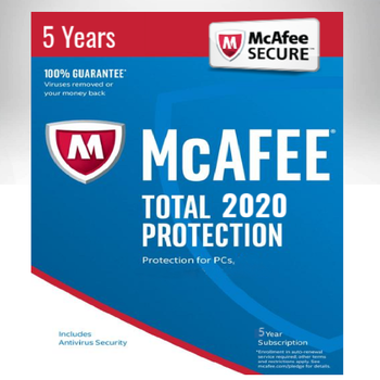 Antivirus McAfee Total Protecion 2020 1 PC /  5 Years Key Activation Multi-language