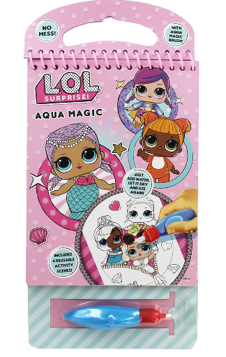 LOL Surprise Aqua Magic Activity Pad With 4 Reusable