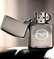 Персонализированная бензиновая Серебристая серая металлическая зажигалка Mazda