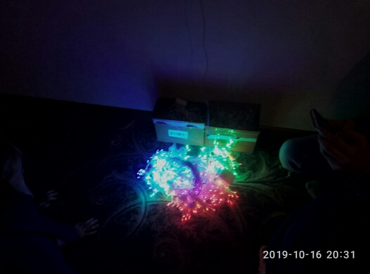 Fios de LED Curtain Cordas Garland
