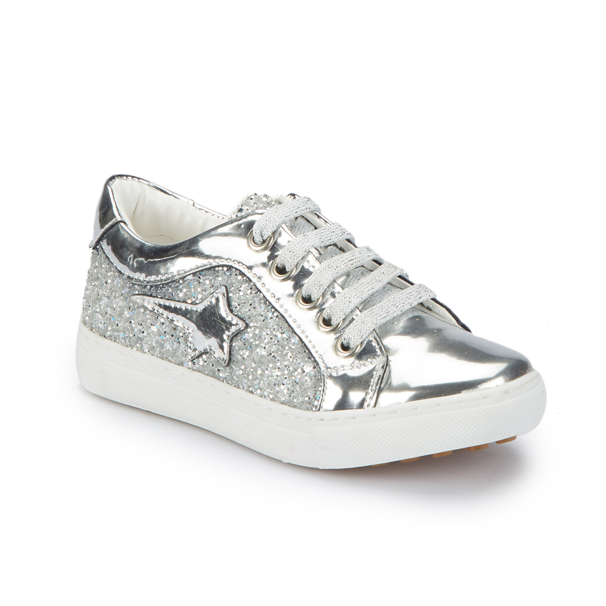 FLO MELLOV-1 Silver Female Child Sneaker Shoes PINKSTEP