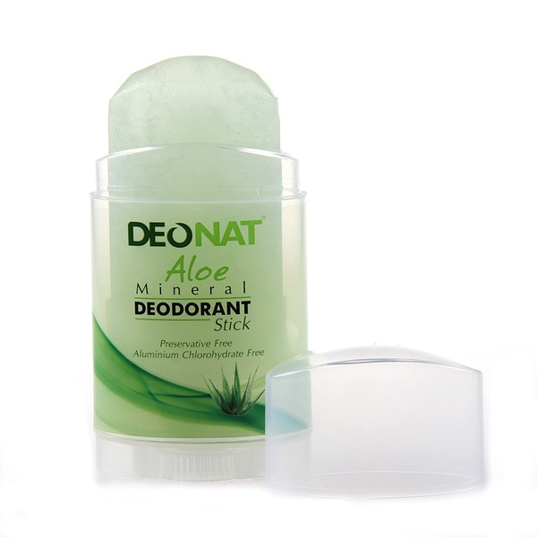 Deonat Deodorant-Crystal With Natural Extract Of Aloe And Glycerin, Stick Drying