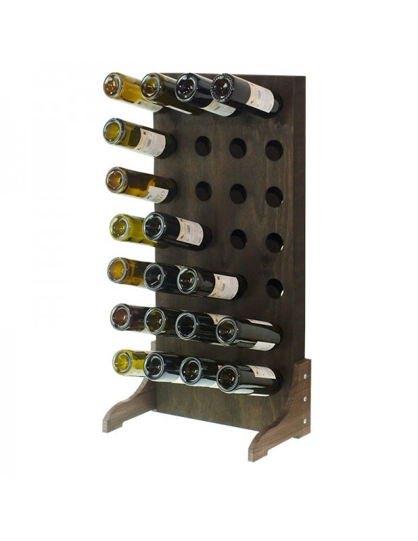 Botellero Vertical 28 Botellas-Nogal