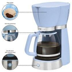 Obsługi Clatronic KA 3689 czajnik elektryczny ekspres do kawy kroplówki filtr do maszyny pojemność 15 filiżanek opiekun hot Retro w stylu Vintage niebieski w Ekspresy do kawy od AGD na