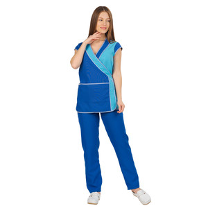 Women's Working suit ivuniforma Julia blue with turquoise inserts
