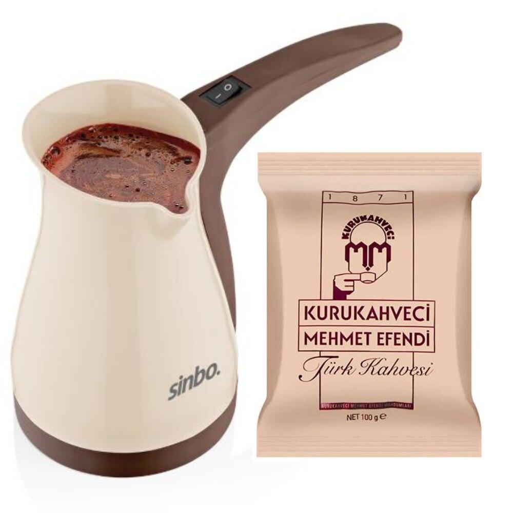 Sinbo Portable Electrical Turkish Coffee Pot Office Coffee Maker Boiled Milk Coffee Kettle Made In Turkey Kitchen Appliance