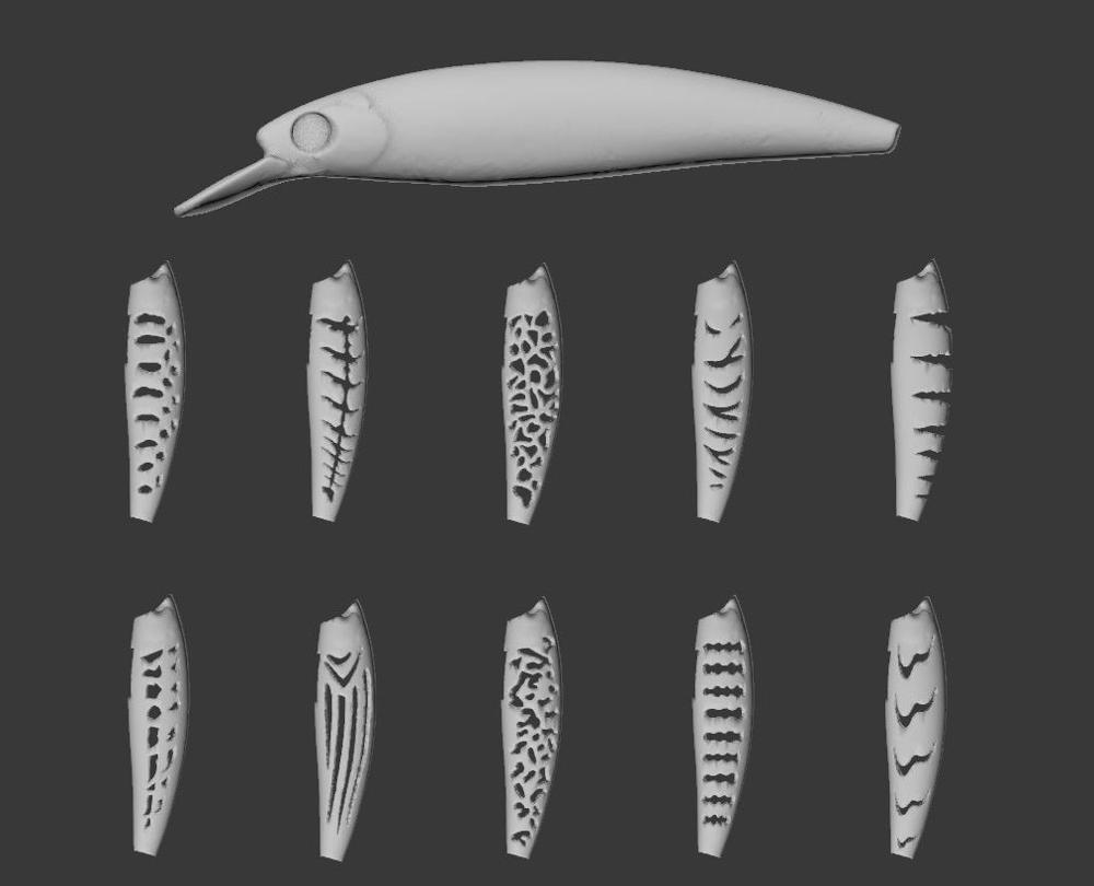 WLure Hard Plastic 3D Stencil For Long Casting Weight Transfer Jerkbait Fishing Lure UPM600