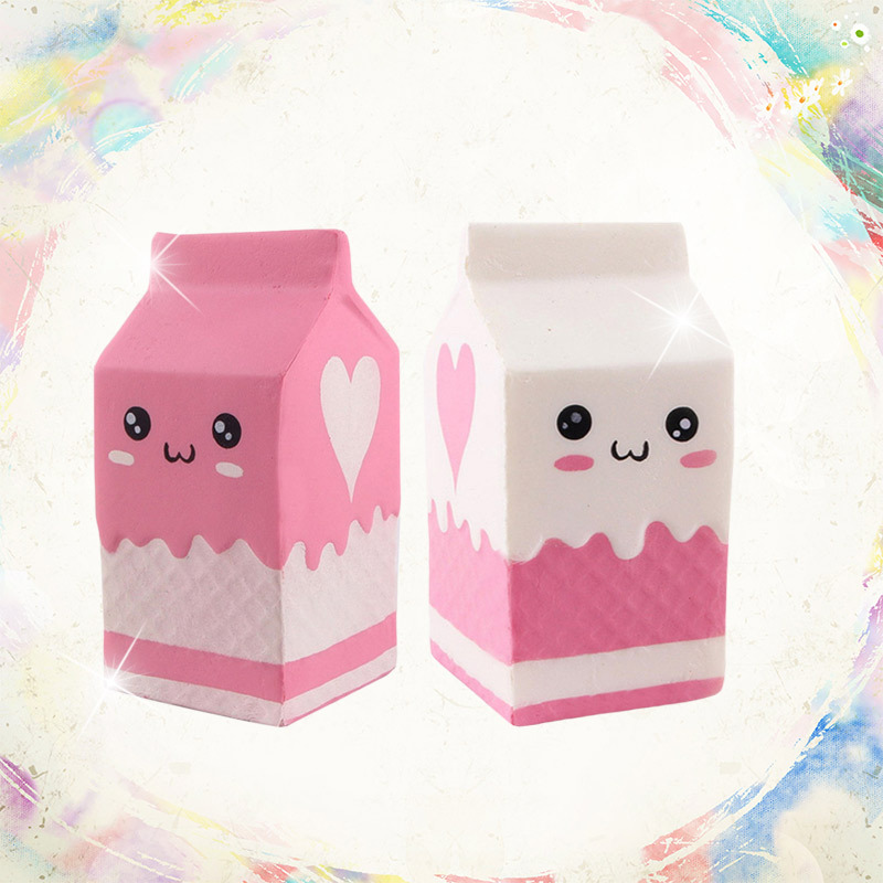 Cute Jumbo Milk Box Squishy Simulation PU Slow Rising Cream Scented Squeeze Soft Stress Relief Toy Kid Funny Gift