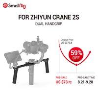 SmallRig Dual Handgrip With 1/4 & ARRI 3/8 Accessory Mounts & NATO Rail Cold Shoe for ZHIYUN CRANE 2S Handheld Stabilizer 3004
