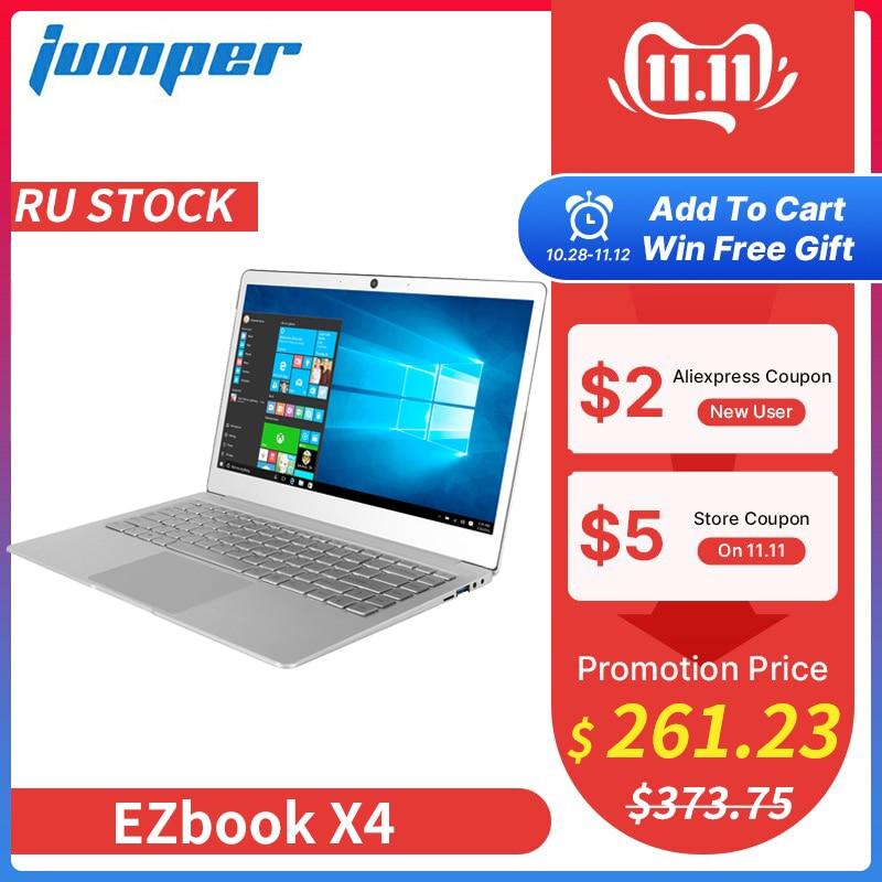 New 14 Inch IPS Laptop Jumper EZbook X4 Metal Case Notebook Intel Celeron J3455 6G 128GB Ultrabook 2.4G/5G WIFI Backlit Keyboard