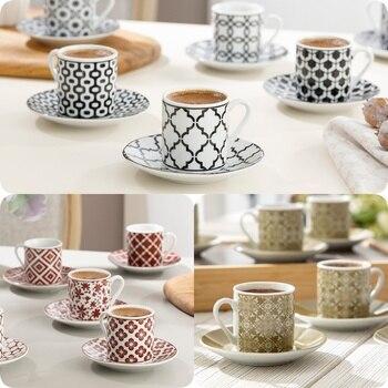 Taza para té y café árabe griego turco, 6 uds., plato de...