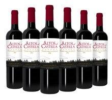 Altos de Castilla-Темпранильо; Цвет красного вина и Сира-Кастилия land вино-бутылки 6x750 мл