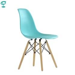 95714 Barneo N-12 пластиковый кухонный бирюзовый стул на деревянном основании интерьерный стул мебель для кухни стул столовый стул в гостиную стул...