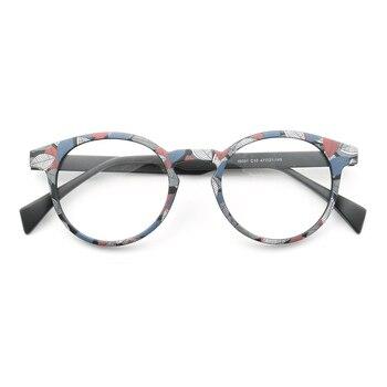 Las mujeres de los hombres ligero monturas para gafas redondas clásico colorido de moda lleno-borde lentes Rx gafas Arco Iris marrón negro