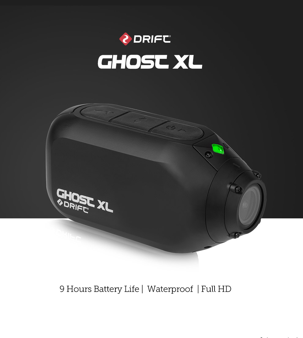 Drift Ghost XL Action Camera Sport Vlog 1080P IPX 7 Waterproof For Motorcycle Wearable Live Bike Bicycle WiFi BT Video Sport Cam