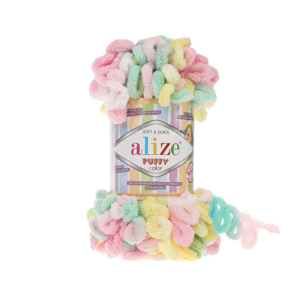 Alize Puffy Color Yarn LOOP YARN Novelty Baby Yarn , Soft And Warm Baby Blanket Yarn, Finger Knits Yarn Finger Yarn