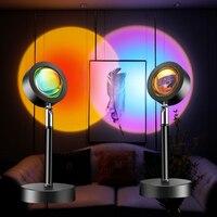 Lámpara de proyector de Estrella de Atardecer, coran,proyector estrellas,luz Led de noche de arcoíris, decoración de mesa con enchufe USB, señal de neón, Sensor de movimiento de fondo, Luna y habitación