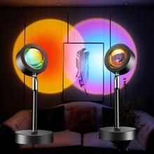 Pôr do sol estrela lâmpada do projetor arco-íris led night light decoraçãodecoração sala usb soquete lâmpada de mesa sinal néon backlight sensor movimento lua quarto