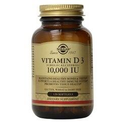 Solgar فيتامين D3 تشولكالسيفيرول 1000 وحدة دولية لينة ، 100 عدد