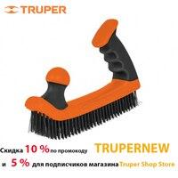 Brush metal Truper 12656, Brush bristle of carbon steel, Two ergonomic, двухкомпонентные handle
