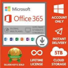 Office 365 Pro Plus 2020 на весь срок службы все языки работают на 5 устройствах
