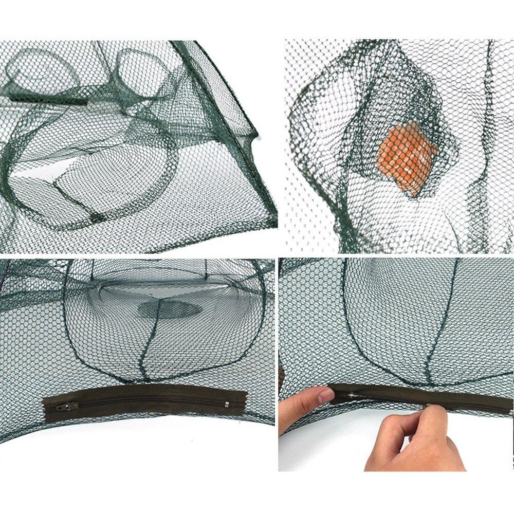 Рыболовная сеть для ловли Раков в сложенном виде рыболовная
