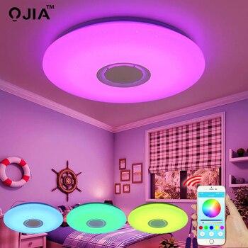 Âm nhạc ĐÈN LED âm trần điều khiển Bluetooth Đổi Màu Chiếu Sáng xả gắn đèn cho phòng ngủ Đèn ốp trần