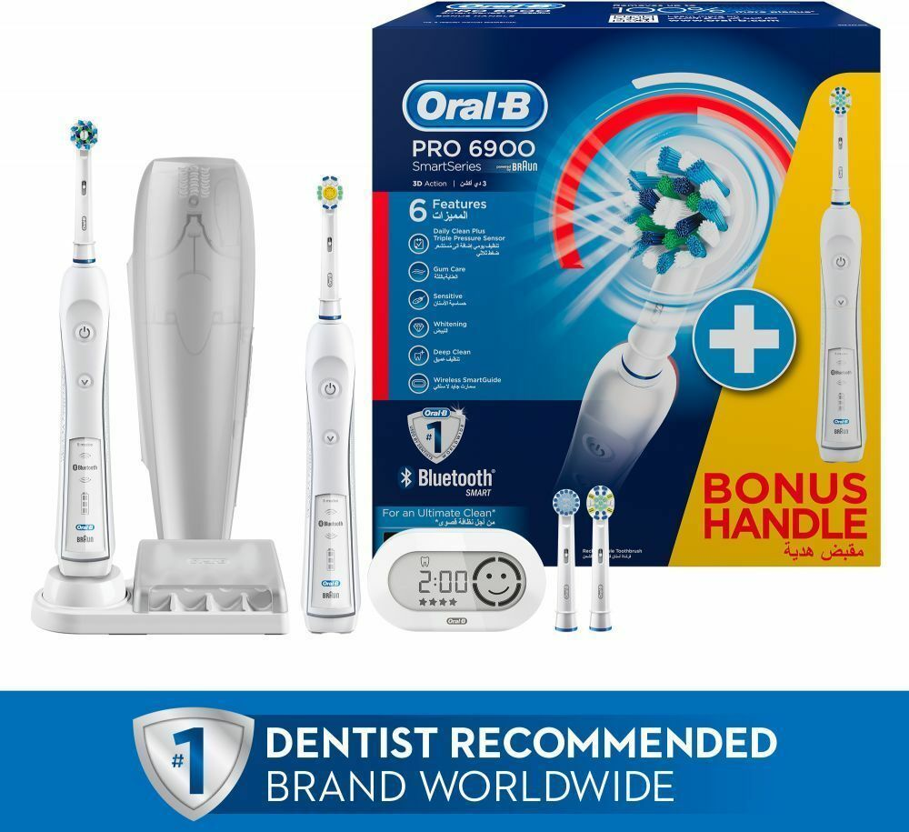Oral-B Genius 6900 Electric Toothbrush Powered by Braun-6000 x 2 BLUETOOTH image