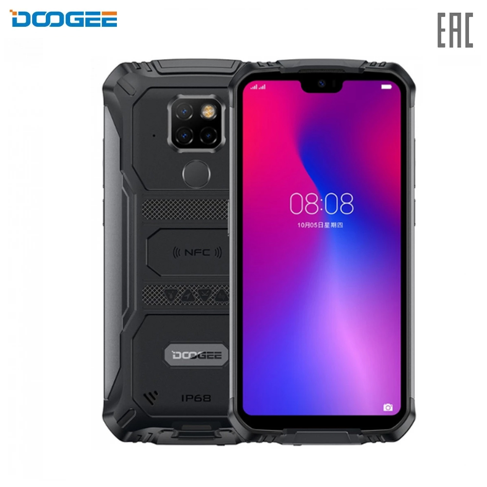 Mobile Phones Doogee S68 Pro smartphone pure android capacious powerful battery fingerprint scanner S 68 Pro 5.9'' 1080x2280 4 x Cortex - A53 8 Core 6GB RAM 128GB NFC GPS Type-C 6030 mAh Android 9.0 Pie