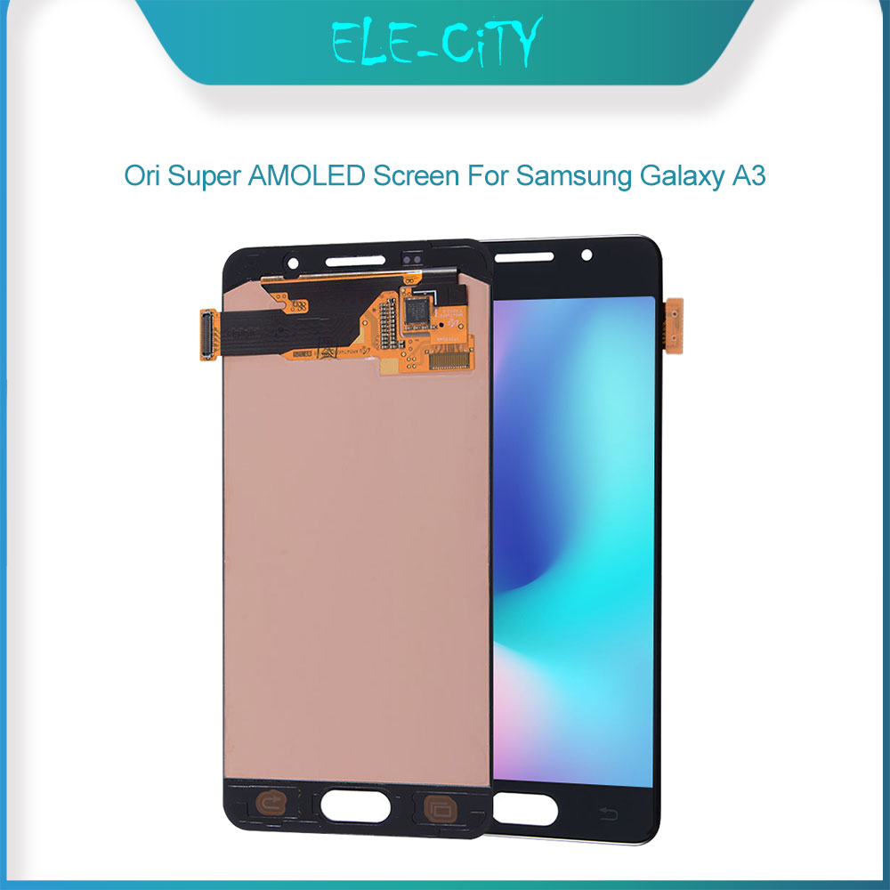 Ori For Samsung Galaxy A3 (2017) <font><b>A320</b></font> (2016) A310 A500 Super <font><b>AMOLED</b></font> Display With Touch Screen Digitizer Assembly Replacement image