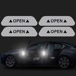 자동차 오픈 반사 테이프 경고 마크 스티커 현대 산타페 tm 2019 i30 2018 solaris azera elantra grandeur