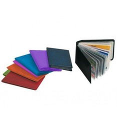 CARD HOLDER CREDIT MANUFACTURED IN PVC BASEMAN OPAQUE CAPACITY 10 CARDS ASSORTED COLORS DISPLAY 30 PCS