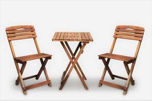 Folding bistro set wooden table and chairs patio set indoor & outdoor furniture folding chair table balcony furniture set