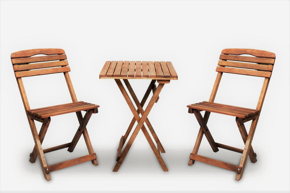 folding bistro set wooden table and