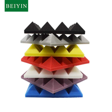 12/Pack Acoustic Foam-Panel Sound Pyramid Treatments Sound-Absorption-Board Studio 25x25x5cm