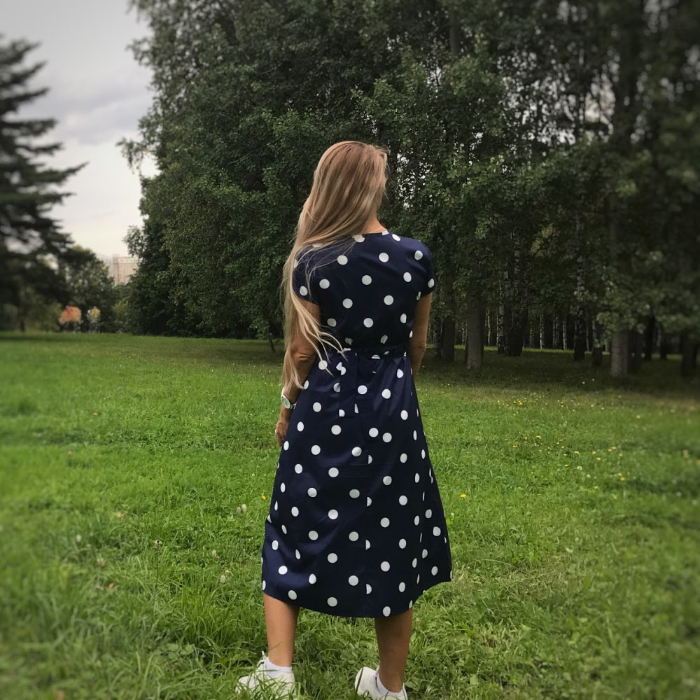 Lossky Summer Dress Women Vintage Dress Casual Polka Dot Print A Line Party Dresses Sexy V Neck Short Sleeve Long Dress Fashion photo review