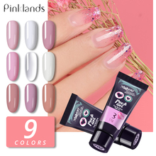 15ml 9 colors Finger Extension Gel Builder Polygel Acryl Poly Clear Pink UV Quick Building Nail Camouflage LED Hard