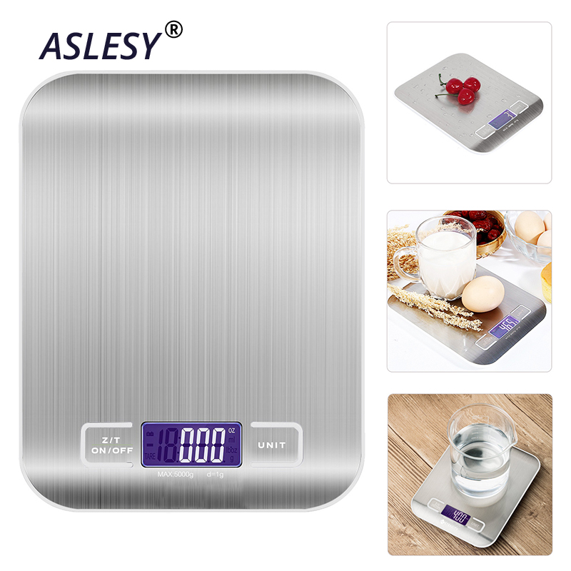 Electronic Kitchen Scale 10KG LED Digital Stainless Steel Food Scale Multi-function High-precision Measuring Tool Baking Scale