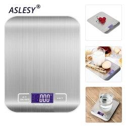 Balance de cuisine électronique 10KG LED balance alimentaire en acier inoxydable numérique multi-fonction outil de mesure de haute précision balance de cuisson