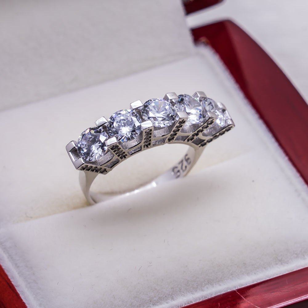 925 sterling Silver Dibs Lady Ring Model 5()