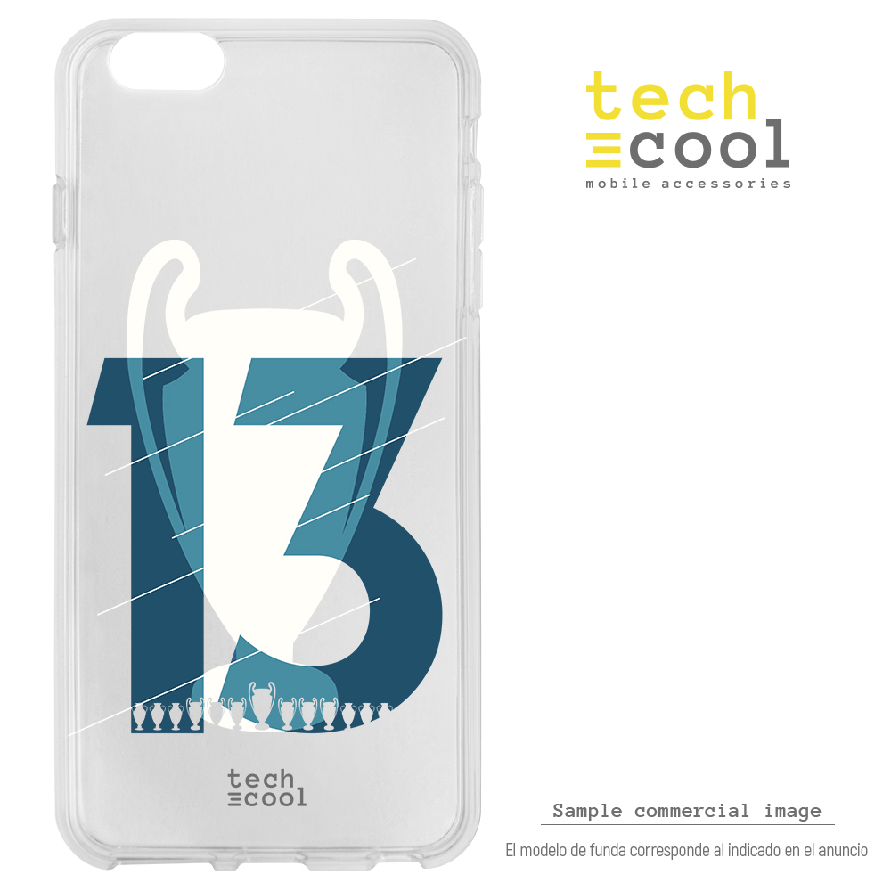 FunnyTech®Silikon stand fall für <font><b>IPhone</b></font> <font><b>6</b></font>/<font><b>IPhone</b></font> 6S <font><b>Real</b></font> <font><b>Madrid</b></font> Champions League 13 transparent image