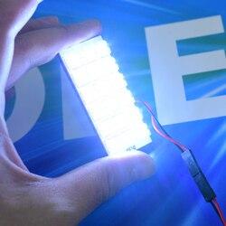 Светодиодная панель светильник в салон автомобиля с адаптером T10 w5w Feston c5w t4w BA9s 12V DC - подсветка багажник - подсветка номера