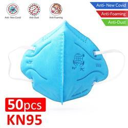50 Uds KN95 máscara protectora Anti-polvo PPE protección del trabajo respirador no tejido a prueba de polvo Anti bacterias seguridad N95 cubierta de la boca