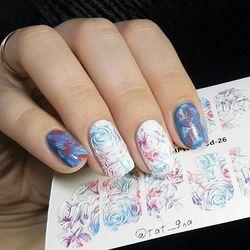 3D slider design Blumen mini, BPW. stil, wasser nagel aufkleber, 3d26