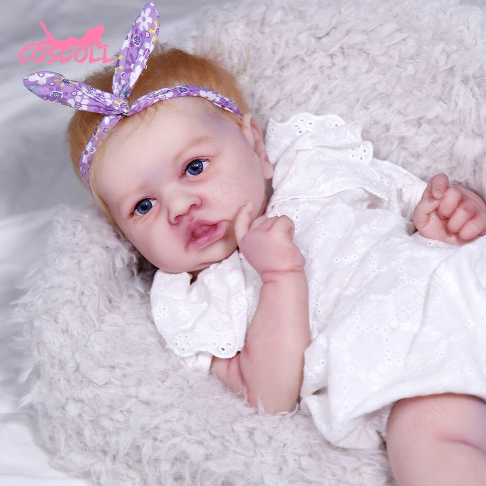 Reborn Baby 57 см 4,7 кг 100% силиконовые прочные куклы моющиеся дошкольного образования детские игрушки для детей, подарки bonecas #