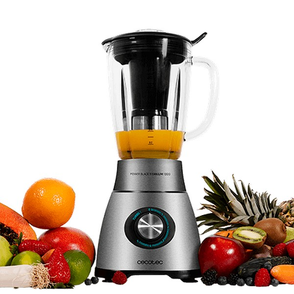 Cup Blender Cecotec Power Black Titanium 1800 2 1 L 1800W Inox|Food Mixers| |  - title=