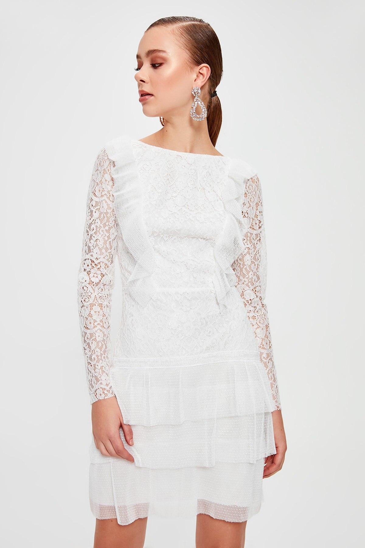 Trendyol Ruffle Detail Dress TPRSS20EL1095()
