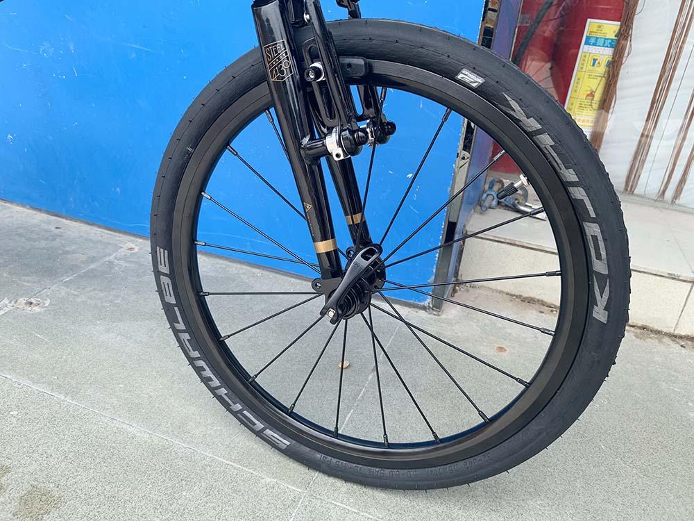 "U557505ae8ed74f8e8aa99202d8645f6f5 Fnhon Gust CR-MO Steel Folding Bike 16"" 305 349 Minivelo Mini velo Bike Urban Commuter Bicycle V Brake 9 Speed"