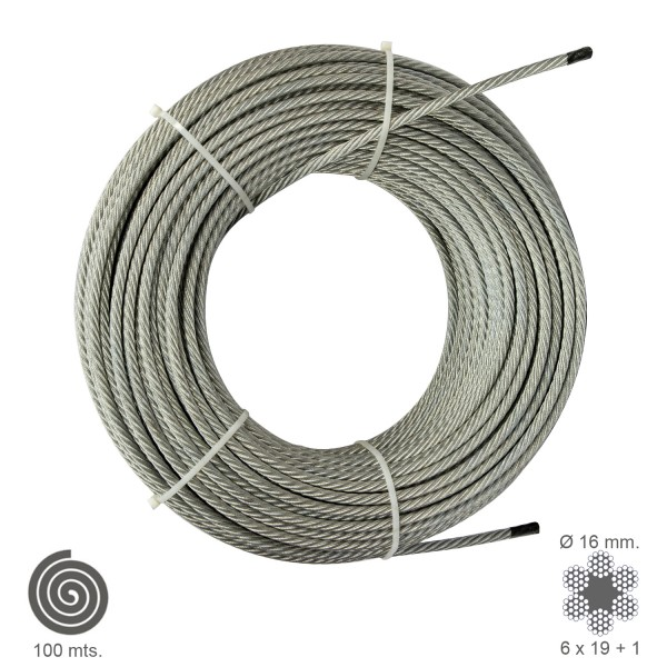 Galvanized Cable 16mm. (Roll 100 Meters) Not Lift