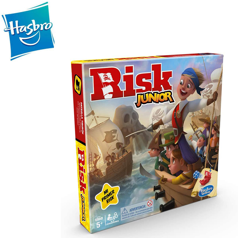 Hasbro Gaming Risk Junior Order Child Design Design Pirate Juego De Mesa Strategic Classic Funny Juedo Between Friends E6936105